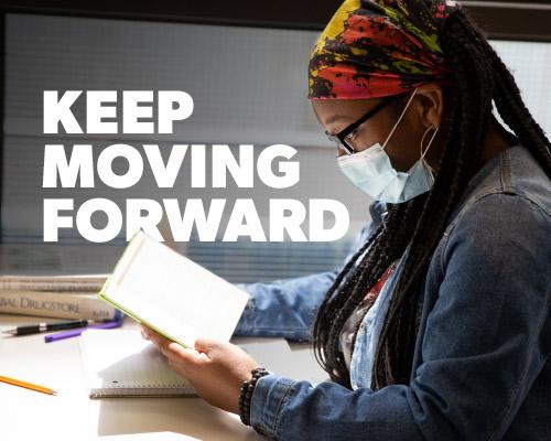 Keep moving forward banner image.