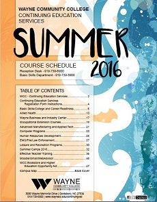 link to continuing ed summer 2016 schedule