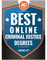 Best Online Award for Criminal Justice Degrees