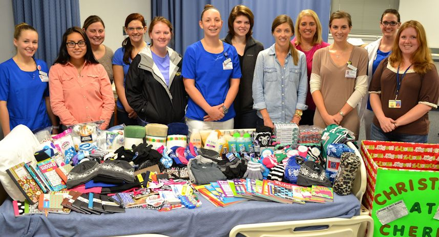 "WCC nursing and dental student organizations held a drive that will provide ""Christmas at Cherry."""