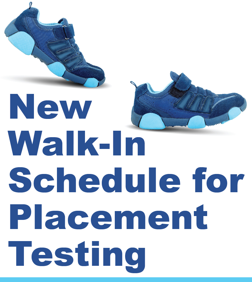 Walk-In Testing Schedule Introduced