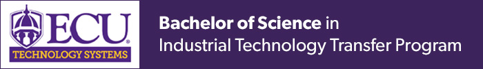 ECU Bachelor of Science in Industrial Technology Transfer Program banner