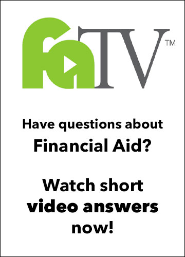 Financial Aid TV banner.